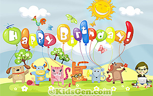 Birthday Wallpapers For Kids Happy Birthday Wishes For Wall