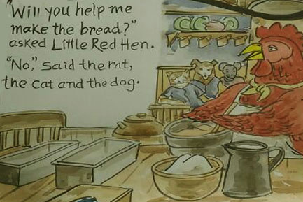 The hen asked for help to make bread