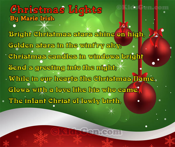 Christmas Poem.Famous Christmas Poem For Kids Short Christmas Poems