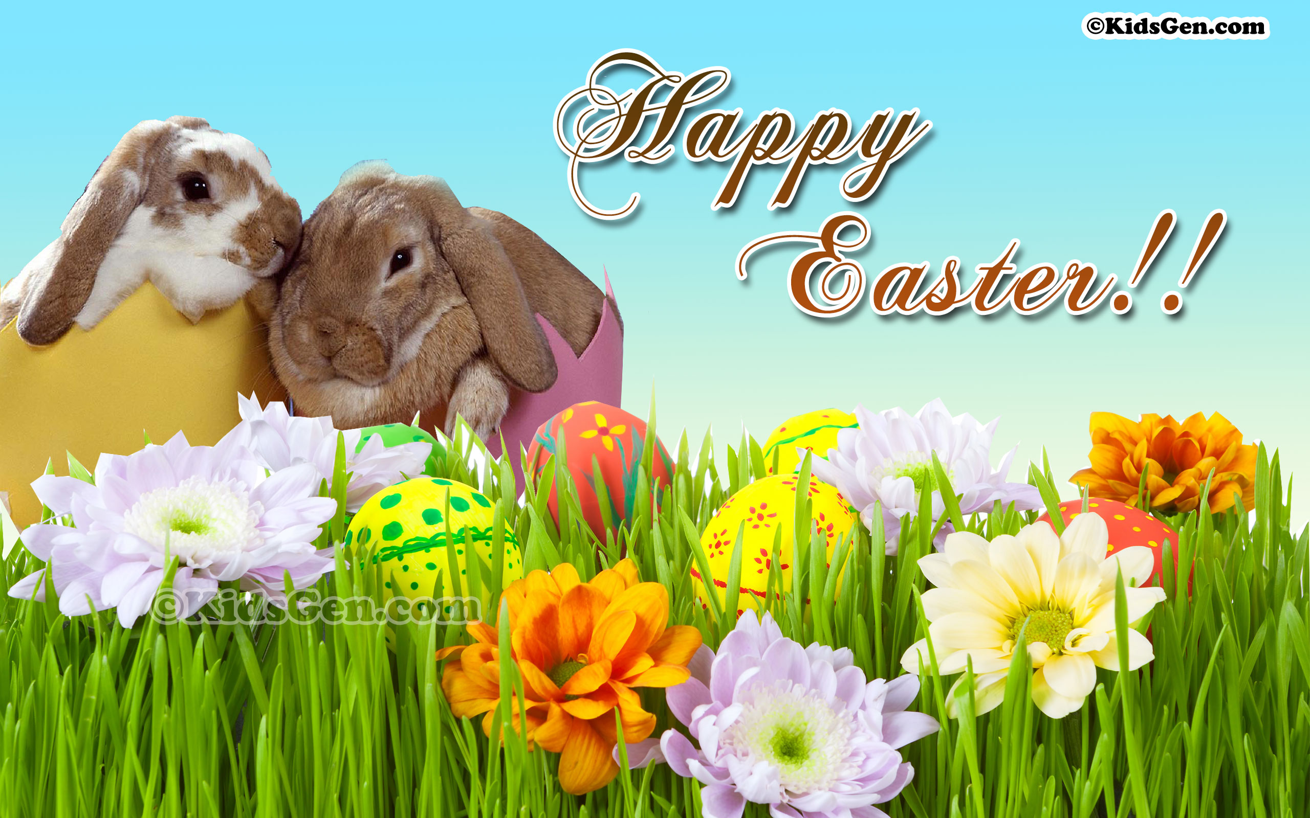 HD Wallpaper For Kids With Happy Easter Wishes