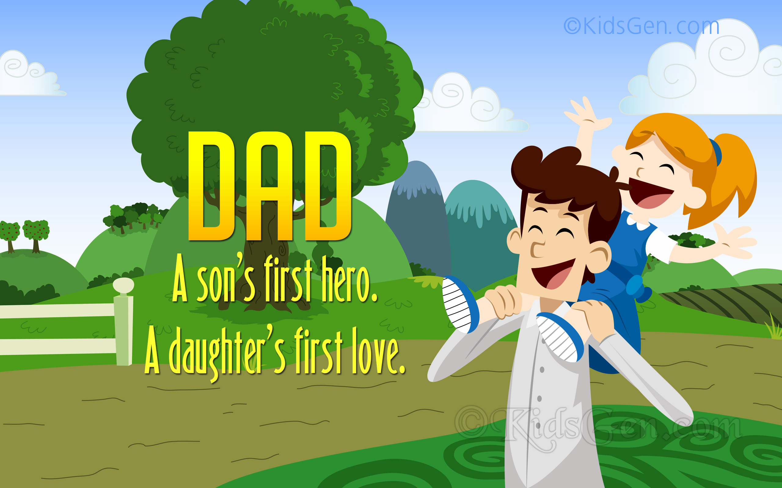 Fathers Day Wallpapers For Kids Free Fathers Day Backgrounds