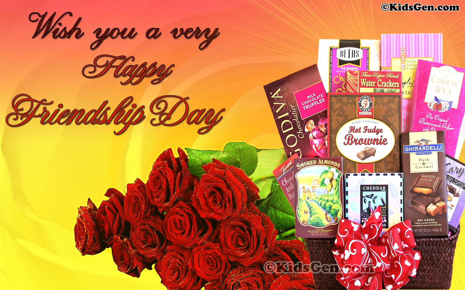 A wonderful high quality wallpaper featuring gifts for friendship day.