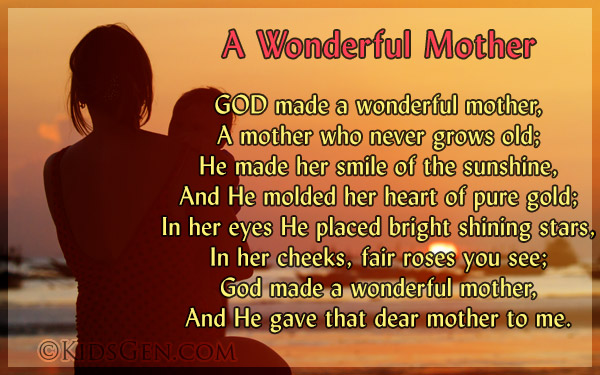 Mother's Day Poems Poetries for Kids