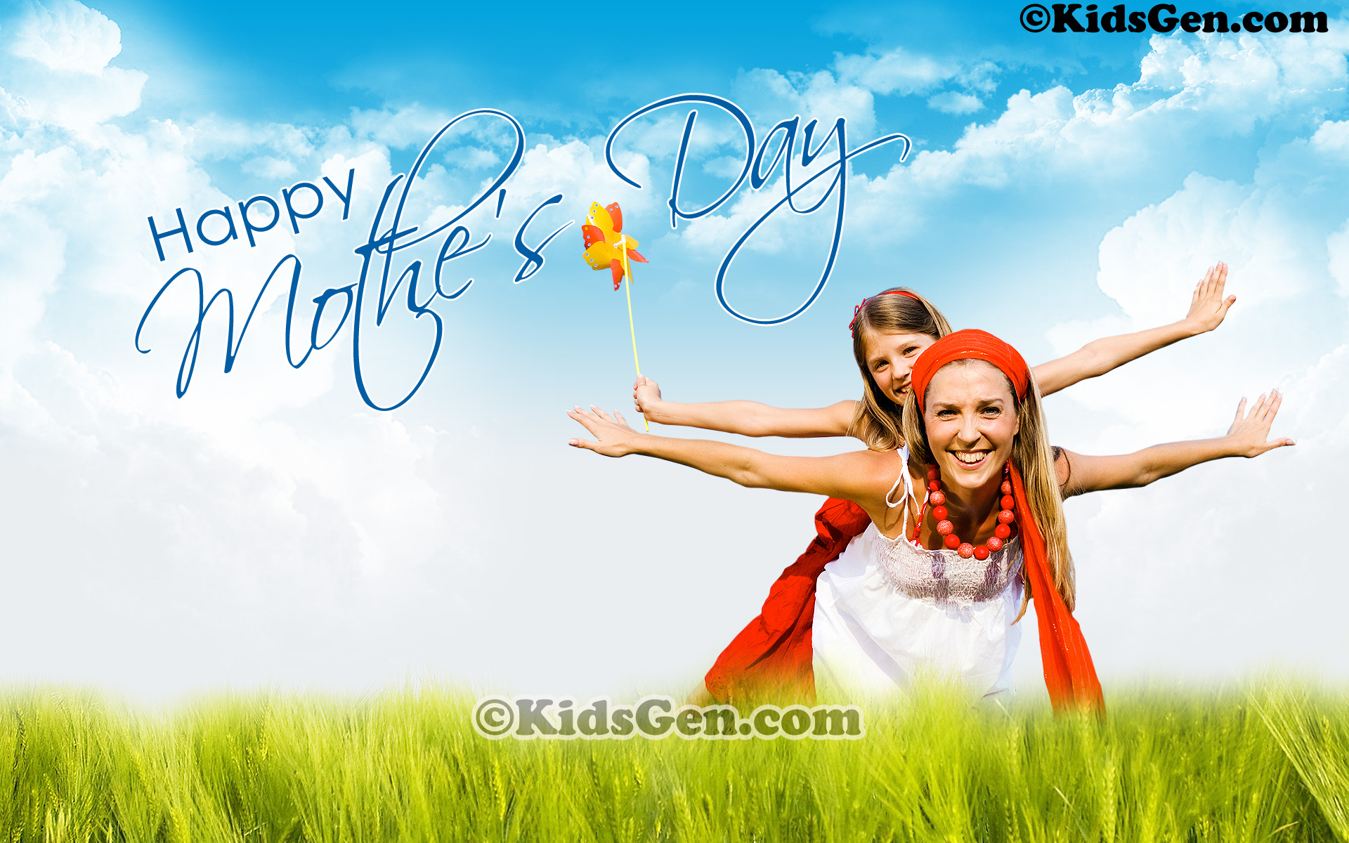 High Definition Representation Of Mother And Daughter Enjoying Themselves Om Mothers Day