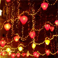 Light decoration on new year