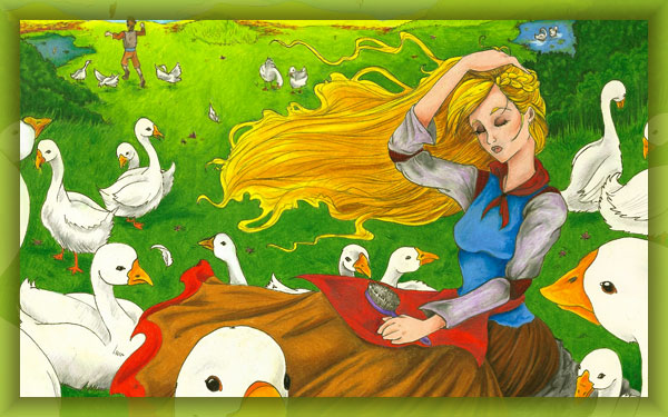 The Goose-Girl - Fairy Tale for kids