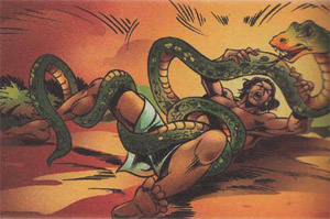 Bhima and the Python