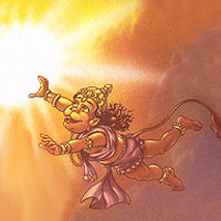 Hanuman and Suryadeva