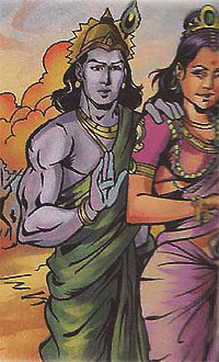 Krishna and Rukmini