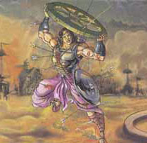 Abhimanyu the son of Arjuna