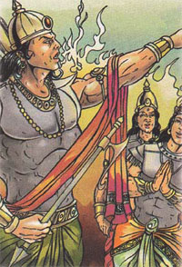 Indra cursing Agni and Vayu