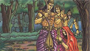 Rama blessing Ahilya
