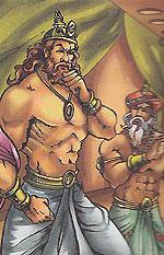 Akrura meets king Dhritarashtra