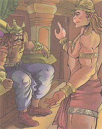 Angad meets Ravana
