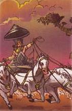Arjuna in heaven