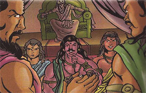 Duryodhana invited Pandavas in the game of Dice