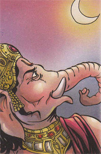 Mythological Story : Ganesha Curses the Moon