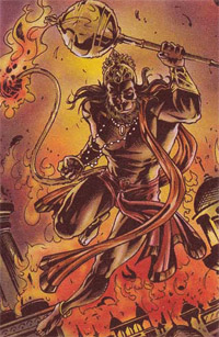 mythological story hanuman sets lanka on fire