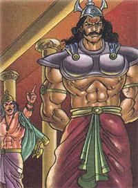 Indrajit disgraces Vibhisana