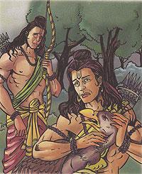 Dying Jatayu helps lord Rama