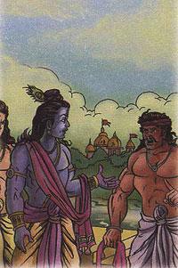 Krishna and the washerman
