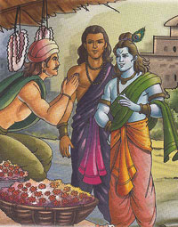 Krishna and the florist