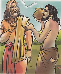 Uttanka refused to accept water from a man of low caste