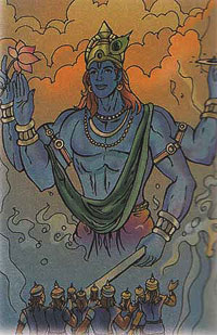 Krishna showing his cosmic form