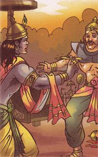 Paundraka and Krishna