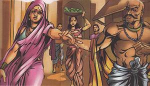 King Harishchandra and his wife