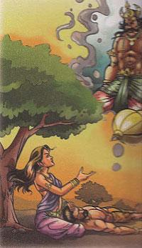 Savitri begging Yama for her hushband life