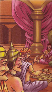 Fight between Shakuni and Nakula