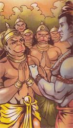 Sugriva and Rama...