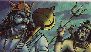 Shiva and Yama