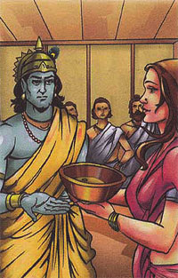 Draupadi and Krishna