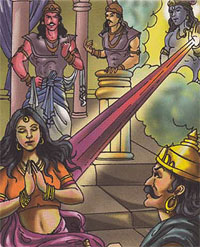 Draupadi and Krishna