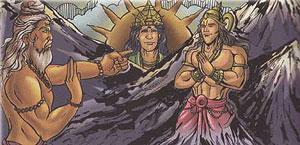 Sage Agastya and Vindya mountain
