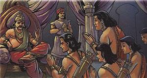 The Pandavas-Yudhishtira-Bhima-Arjuna-Nakula-Sahadeva