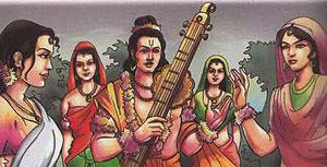 Narada and the gopis