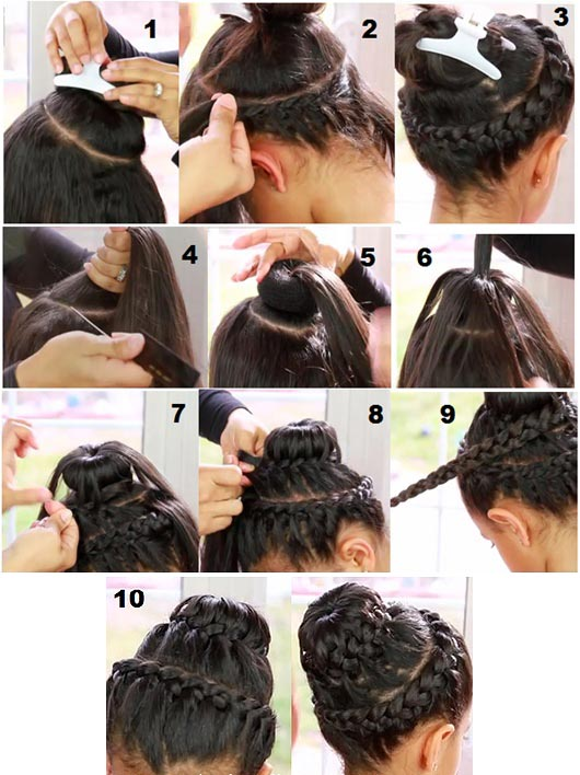 Kidsgen A Stylish Hairstyle For Party Wear Double Crown Braid
