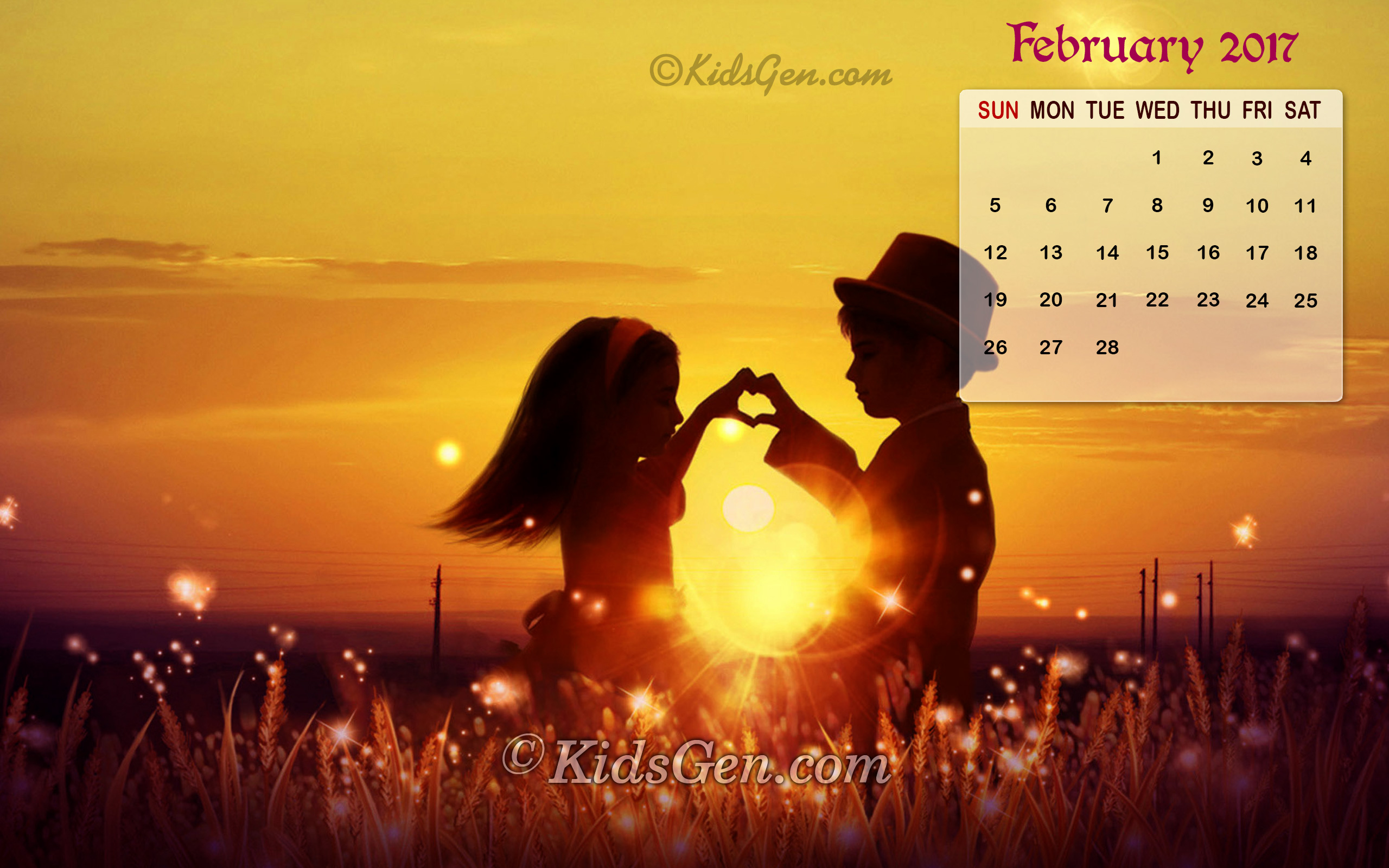 Month Wise Calender Wallpapers 2017