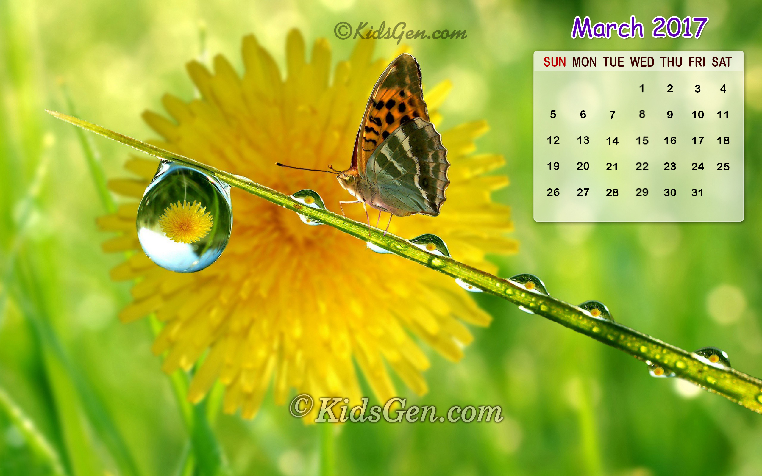 Calendar Desktop Wallpaper March : Month wise calender wallpapers