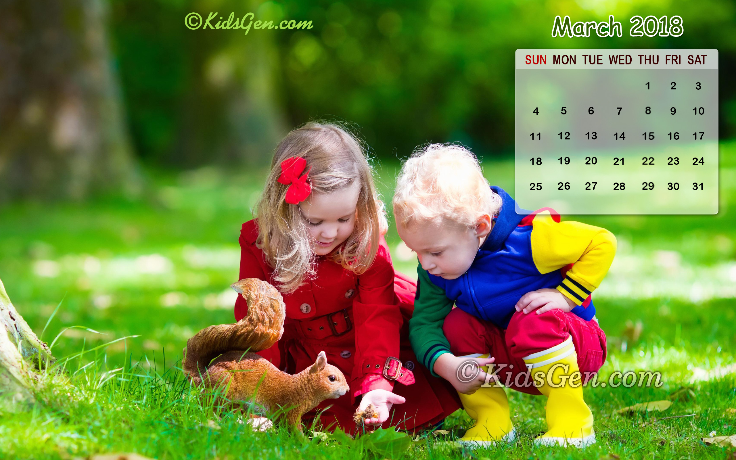 month wise calender wallpapers 2018