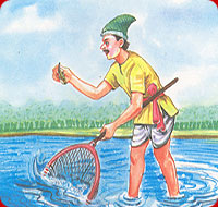 A Fisherman And A Sprat Moral Story