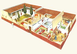Ancient Roman House Model Best Art