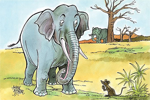 THE LITTLE MICE AND THE BIG ELEPHANTS