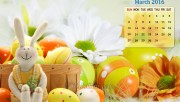 Easter Bunny Calendar Wallpaper 2016