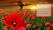 July Calendar Wallpaper 2…