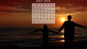 Calendar Wallpaper of July 2016