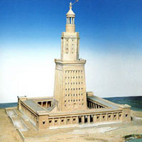 how wide is the lighthouse of alexandria